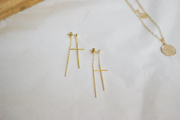 Marcella Cross Earrings