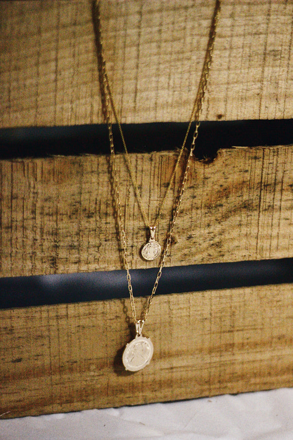 Flip a Coin Double Necklace