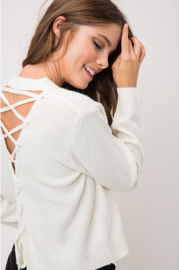 Lexi Lace-Up Sweater