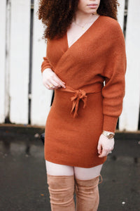 Its A Wrap Sweater Dress