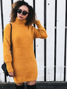 Fly Me to Florida Fuzzy Sweater Dress