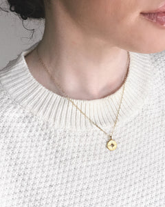 North West Pendant Necklace - Gold