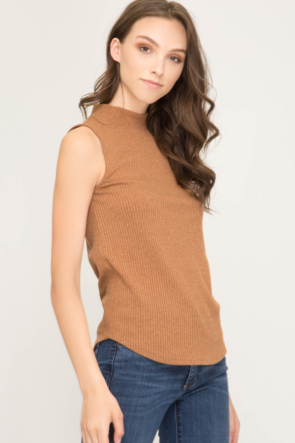 Monica Mock Neck Tank