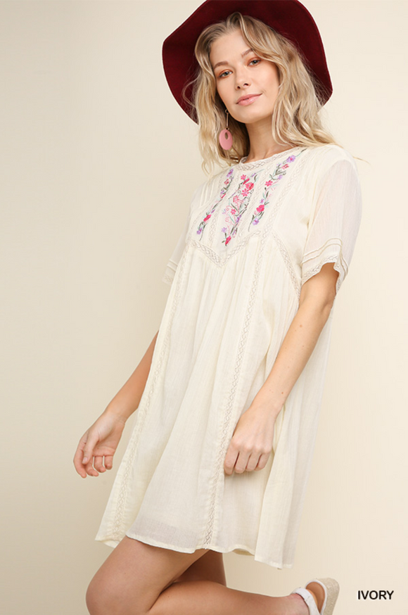 Ella Embroidery Dress
