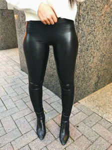 High Waisted Pleather Legging