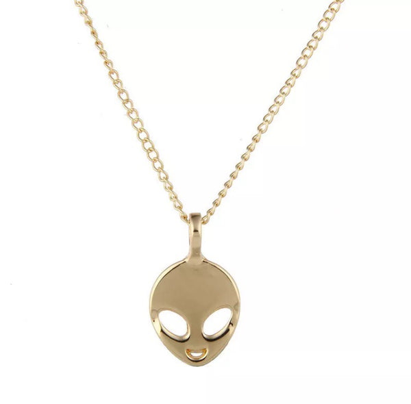 Gold plated alien head chain