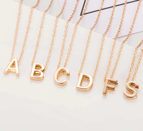 Letter Name Initial chain pendant
