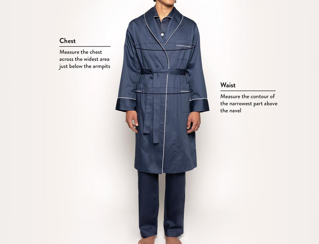 Size guide robes man front