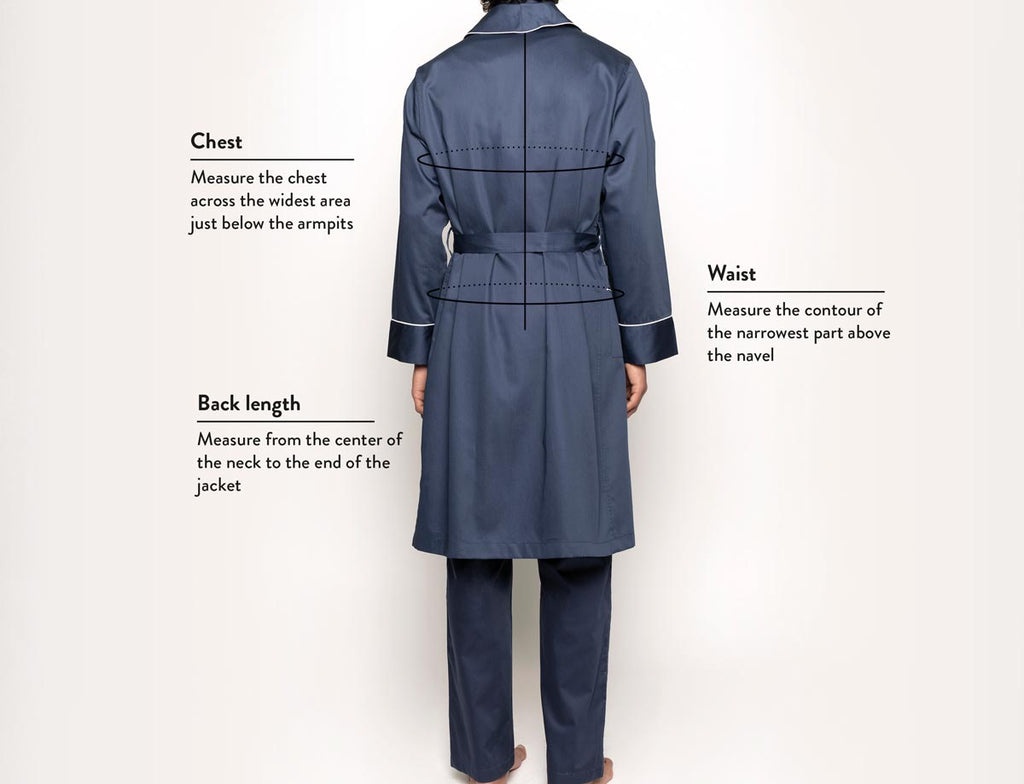 Size guide robes man back