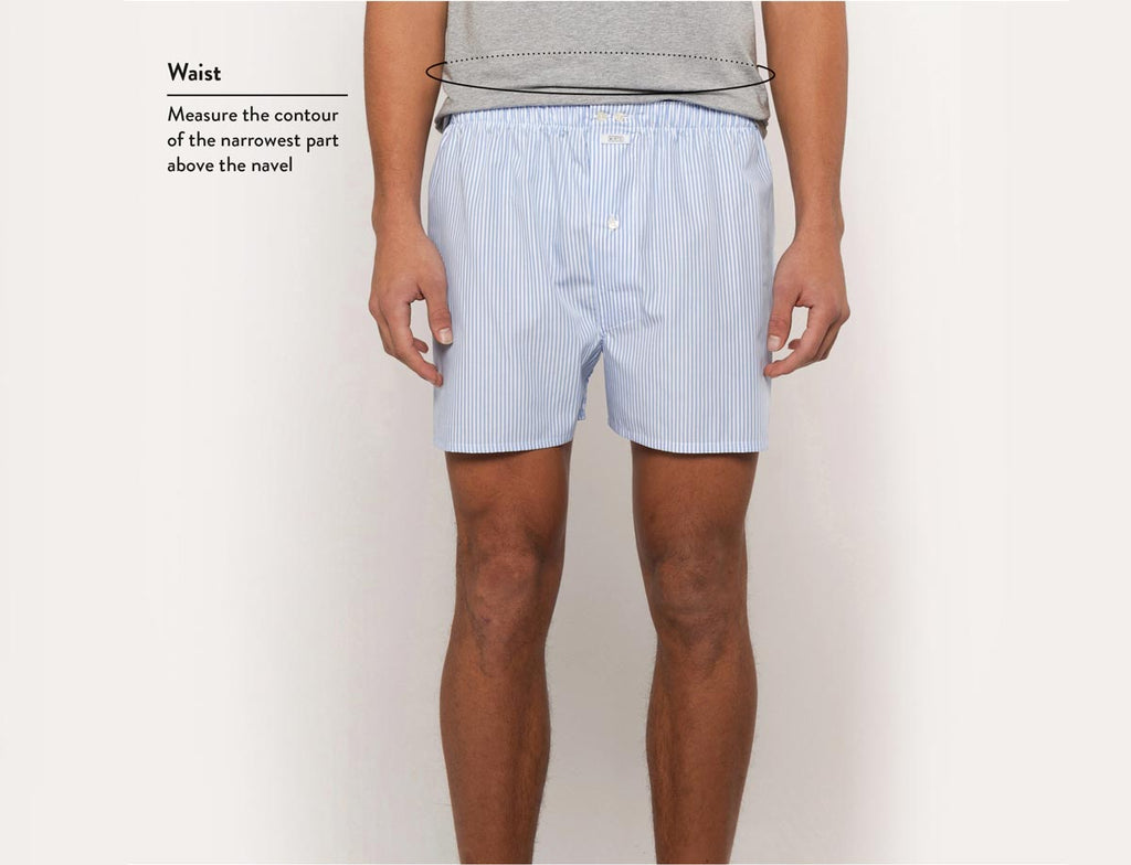 Size guide man boxers