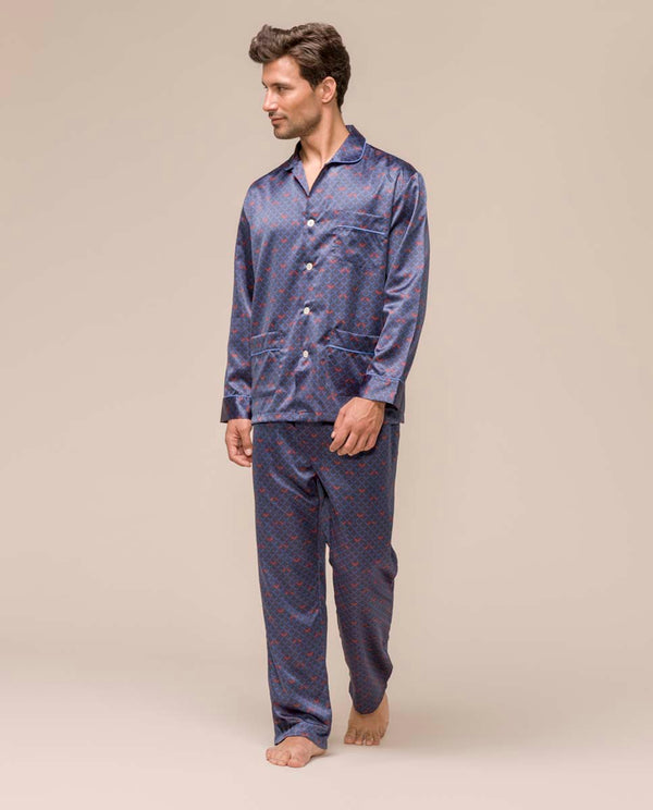 SATIN LONG PAJAMA by MIRTO