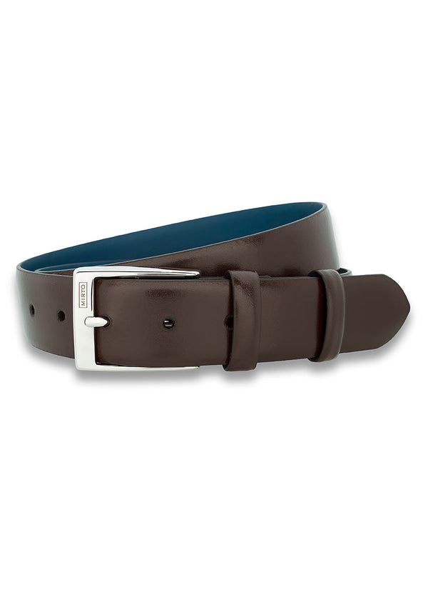 BROWN DRESS BELT by MIRTO