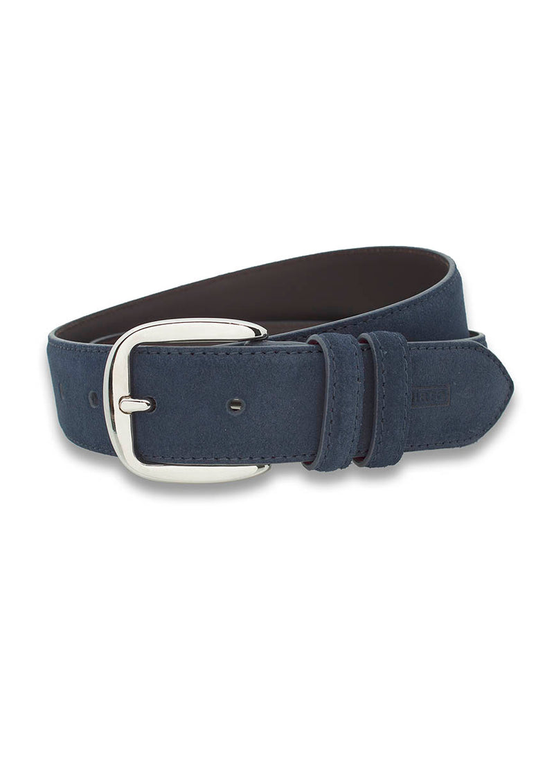 NAVY CASUAL SUEDE BELT