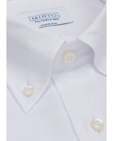 WHITE BUTTON DOWN CASUAL OXFORD SHIRT by MIRTO