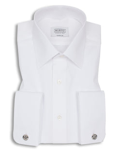 WHITE POINTED COLLAR DRESS SHIRT