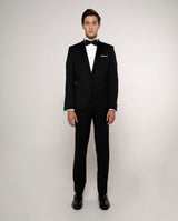 SPREAD-COLLAR TAILORED FIT TUXEDO SHIRT
