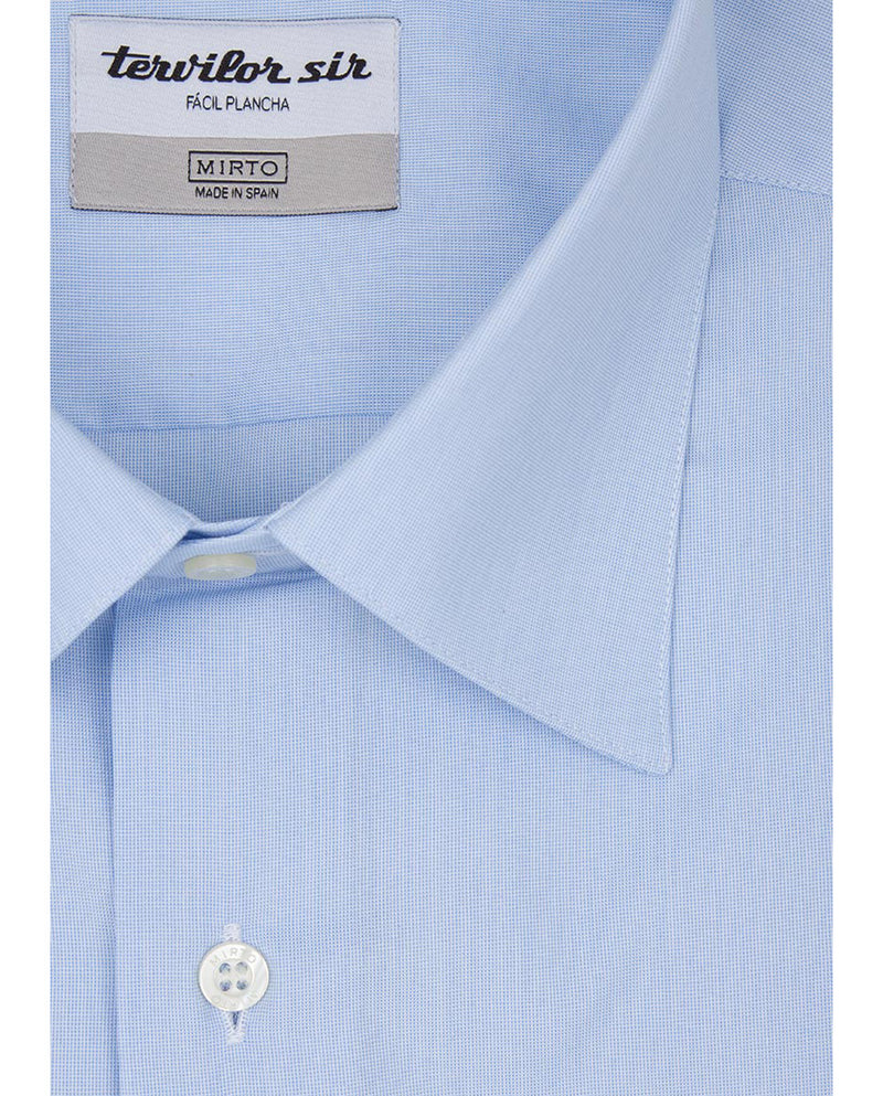 BLUE CLASSIC EASY-IRON TERVILOR SIR SHIRT by MIRTO
