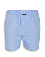 BLUE FIL-A- FIL COTTON BOXER SHORTS by MIRTO