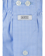 BLUE CHECKED COTTON BOXER SHORTS by MIRTO