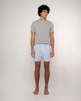 BLUE STRIPED COTTON BOXER SHORTS