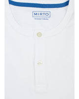 BLUE & WHITE OXFORD PYJAMA SET by MIRTO