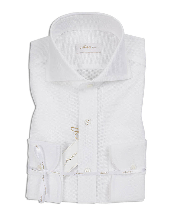 MIRTO 1956 WHITE CASUAL LUXURY SHIRT