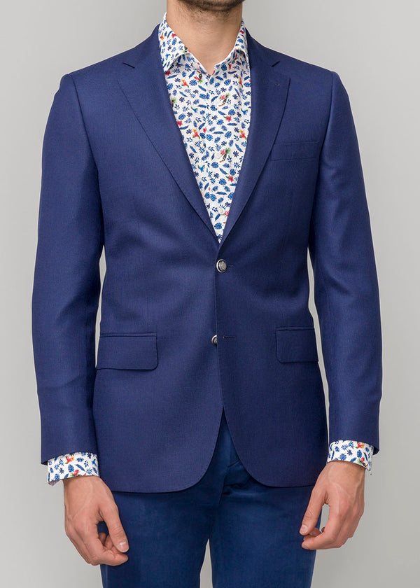 NAVY PINPOINT BLAZER JACKET