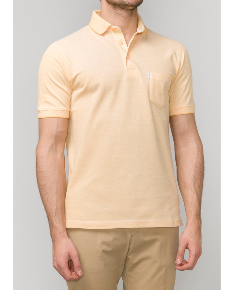 COTTON-PIQUE YELLOW POLO SHIRT by MIRTO