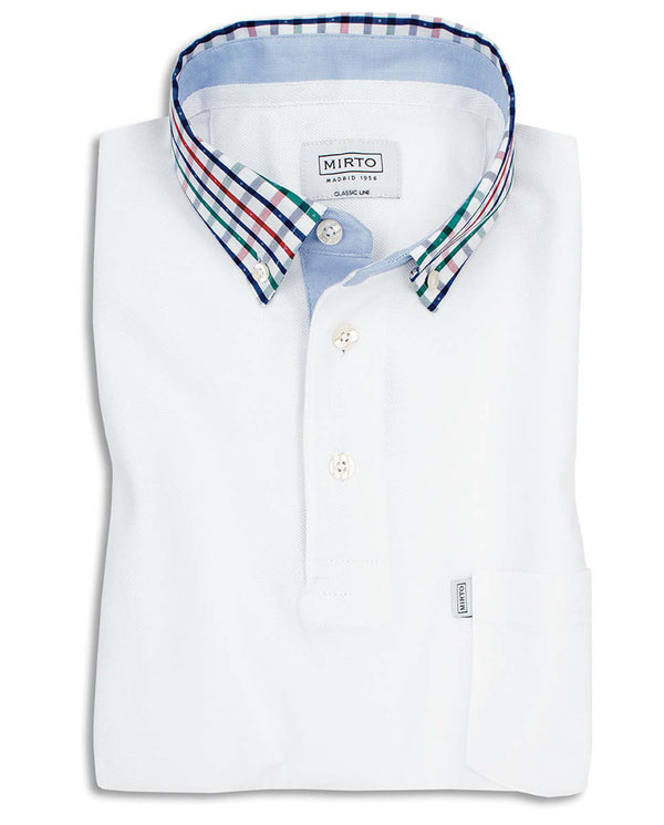 BUTTON DOWN SHIRT-COLLAR POLO