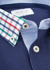 COTTON-PIQUE MINT-GREEN POLO SHIRT by MIRTO