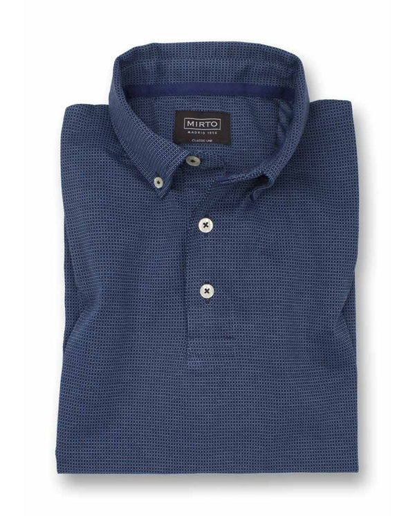 MICRO-WEAVE, SHORT SLEEVED POLO by MIRTO