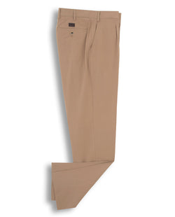 TAN-COLOUR CASUAL STRETCH-COTTON PANTS by MIRTO