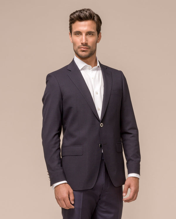 EXTRA LONG CLASSIC NAVY BLAZER JACKET