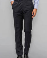 CLASSIC FIT NAVY WOOL TROUSERS by MIRTO