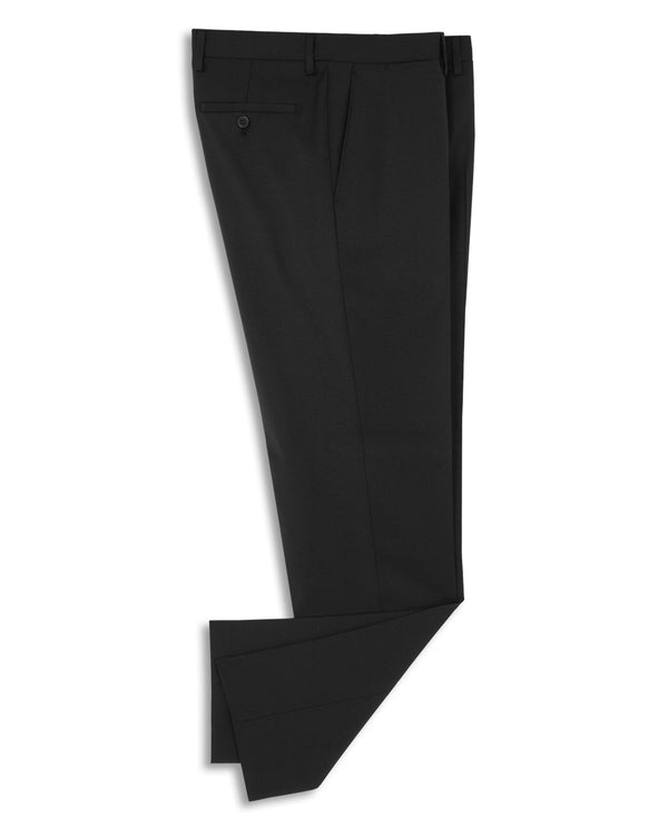CLASSIC FIT BLACK WOOL TROUSERS