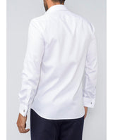 WHITE TAILORED-FIT COTTON SHIRT by MIRTO