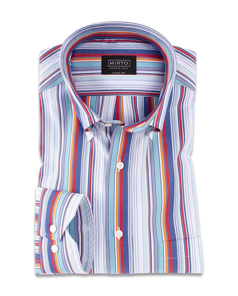 CASUAL STRIPED COTTON SHIRT by MIRTO