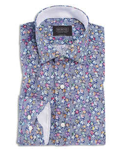 CASUAL FLORAL-PRINT COTTON SHIRT by MIRTO
