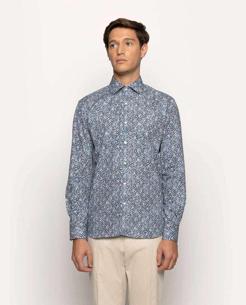 FLOWER PRINTED CASUAL SHIRT