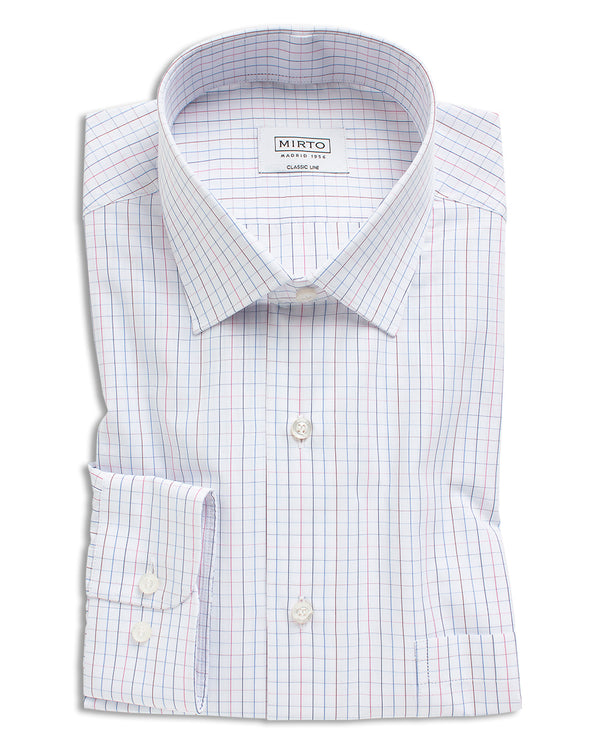 BLUE STRIPED COTTON DRESS SHIRT by MIRTO