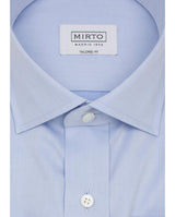 SPREAD COLLAR  BLUE TAILORED FIT DRESS SHIRT