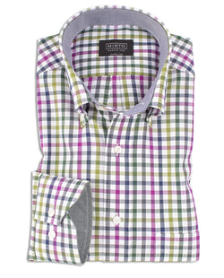 CAMISA CASUAL CUADROS MANGA LARGA by MIRTO