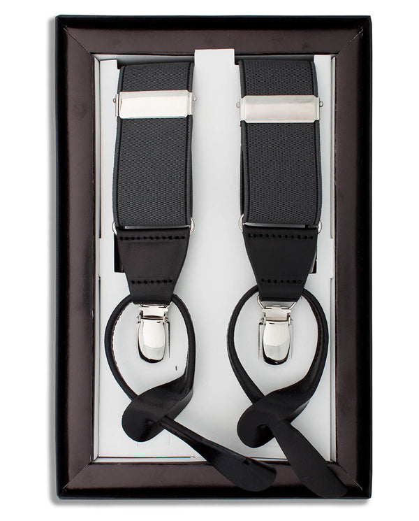 GREY CLIP & BUTTON BRACES by MIRTO