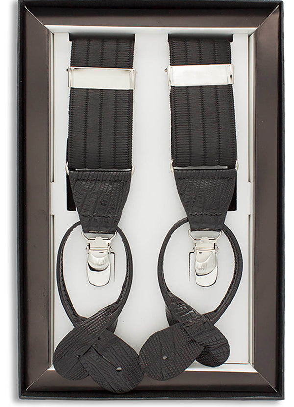 CLIP AND BUTTON SUSPENDERS