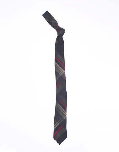 ESQUE' BLUE & RED PLAID NECK TIE