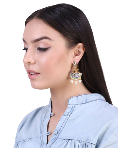 ZARINA MEENAKARI EARRINGS (Blue)