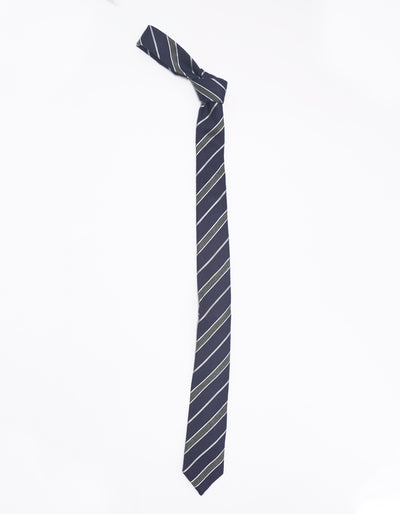ESQUE' BLUE AND GREY STRIPE NECK TIE
