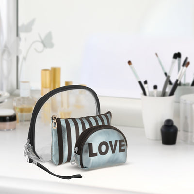Blue love-  multipurpose makeup pouch set of 3