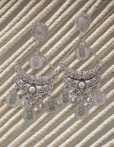 ERUM OXIDISED EARRINGS