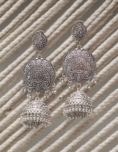 FERDAUS OXIDISED EARRINGS